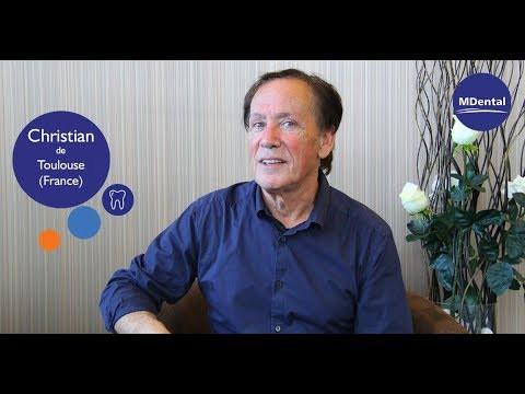 Vidéo témoignage à la clinique MDental : Christian (France)