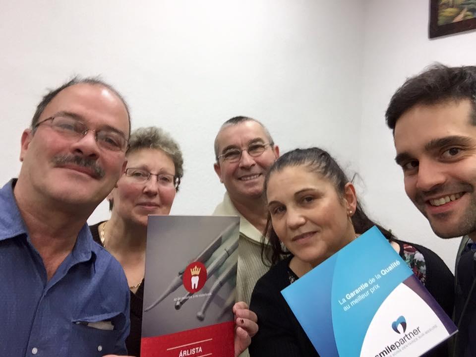 avec les patients de Smile Partner à Budapest