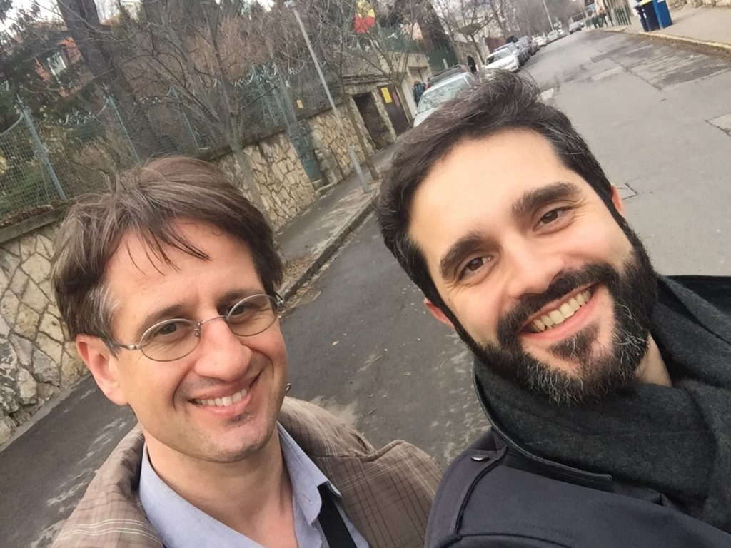 avec Dr Suba à Budapest